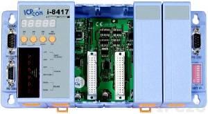 I-8417 PC-совместимый промышленный контроллер 40МГц, 512кб SRAM, 512кб Flash, 2xRS232, 1xRS485, 1xRS232/485, 7-сегментный индикатор, 4 слота расширения, Mini OS7, ISaGRAF 3.5