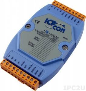 I-7063B Модуль ввода - вывода, 3 канала вывода с твердотельного реле / 8 каналов дискретного ввода, c изоляцией до 3750 В