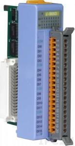 I-8053 Низкопрофильный модуль ввода, 16 каналов дискретного ввода, контакт с внешним питанием, с изоляцией до 3750В, параллельная шина