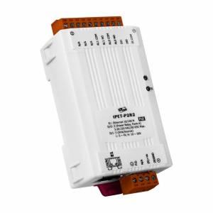 tPET-P2R2 Модуль Ethernet, 2 канала дискретного ввода, 2 канала релейного вывода Form-A, PoE