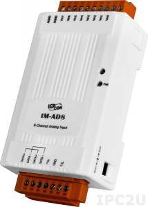 tM-AD8 Модуль ввода, 8 каналов аналогового ввода, 0...+10 В, Modbus RTU/ASCII, DCON