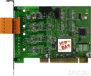 PISO-CAN100U-T 1-портовый Universal PCI адаптер интерфейса CAN c 5-конт. клеммной колодкой, RoHS