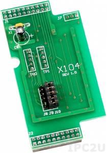 X104 Плата расширения для контроллеров серии I-7188XC(D), 8 программируемых каналов дискретного ввода-вывода