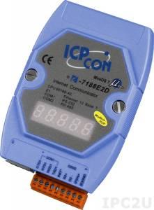 I-7188E2D-MTCP Программируемый Преобразователь последовательных интерфейсов с поддержкой Modbus/TCP, 1xRS-232, 1xRS-485, 7-сегментный индикатор
