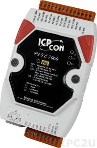PETL-7060 Mодуль ввода - вывода, 6 каналов дискретного ввода / 6 каналов релейного вывода, Modbus, Ethernet 10/100, поддержка PoE