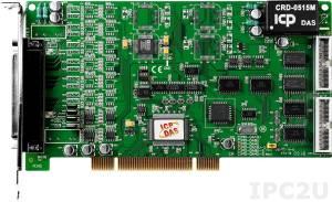 PIO-DA4U Адаптер Universal PCI 4 каналов ЦАП, 16DI, 16DO, разъем CA-4002x1