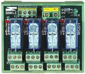 RM-204 Выносная плата 4 силовых реле для монтажа на DIN-рейку(250Vac@8A)