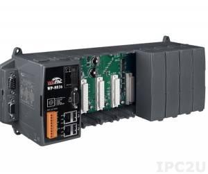 WP-8836-EN-1500 PC-совместимый промышленный контроллер PXA270 520МГц, 128Mб SDRAM, 128Mб Flash, 2xRS-232, 1xRS-485, 1xRS-232/485, 2xEthernet, 8 слотов расширения, Win CE 5.0, ISaGRAF 3.5, Indusoft 1500 тегов