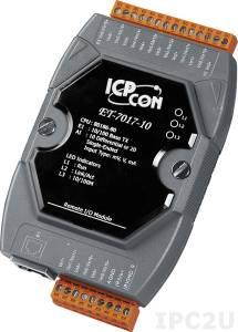 ET-7017-10 Модуль ввода, 10/20 каналов аналогового ввода, защита от перенапряжения