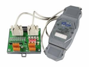 I-7088D/S Модуль ввода - вывода, 8 каналов высокоскоростного счетчика/частотомера / 8 каналов ШИМ, ТТЛ, LED-индикация, с дополнительной платой DN-8P8C-CA