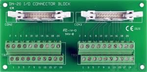 DN-20/N Плата клеммников с двумя 20-контактными разъемами