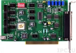 A-821PGL Многофункциональный адаптер ISA, 16SE/8D каналов АЦП, 1 канал ЦАП, 16DI, 16DO, таймер