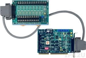 A-822PGH/S Многофункциональный адаптер ISA, 16SE/8D каналов АЦП, 2 канала ЦАП, 16DI, 16DO, таймер, плата клеммников DB-8225 и кабель CA-3710