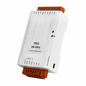tM-AD2 Модуль ввода, 2 канала аналогового ввода, Modbus RTU/ASCII, DCON