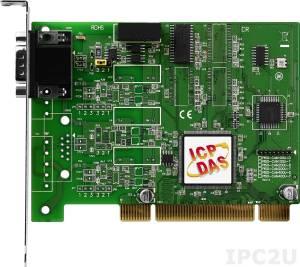 PISO-CAN100U-D 1-портовый Universal PCI адаптер интерфейса CAN c 9-конт. D-sub коннектором, RoHS