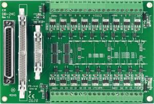DB-24C/D Выносная плата 24 изолированных выхода с открытым коллектором, совместима с Opto-22, 37-контактный D-Sub кабель 1м