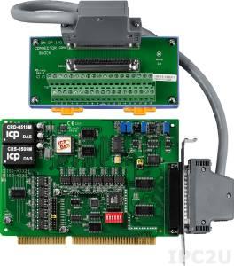 ISO-AD32L/S Адаптер ISA, 32SE/16D каналов АЦП с изоляцией, плата клеммников DN-37 с кабелем CA-3710
