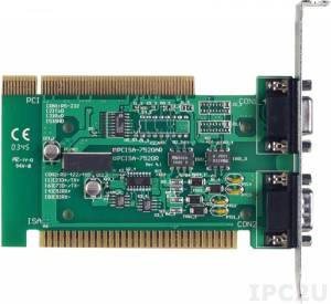 PCISA-7520AR PCI/ISA плата конвертера RS-232 в RS-422/485 с питанием от шины компьютера, без добавления СОМ порта на компьютере, с изоляцией