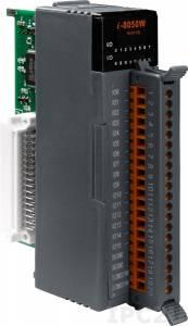 I-8050W Высокопрофильный модуль ввода - вывода, 16 каналов универсального дискретного ввода-вывода, с изоляцией до 3750В, параллельная шина