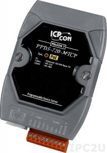 PPDS-720-MTCP Программируемый Преобразователь последовательных интерфейсов, шлюз Modbus TCP в Modbus RTU/ASCII, 1xRS-232, 1xRS-485, POE