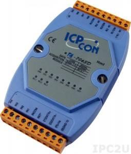 I-7063D Модуль ввода - вывода, 3 канала мощного релейного вывода / 8 каналов дискретного ввода, c изоляцией до 3750 В и индикацией