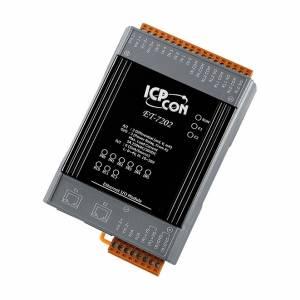 ET-7202 Модуль ввода - вывода, 3 канала аналогового ввода / 6 каналов дискретного ввода, мокрый контакт / 3 канала дискретного вывода, реле тип А, 2xEthernet