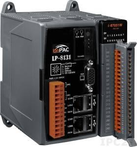 LP-8131-EN PC-совместимый промышленный контроллер Intel PXA270 520МГц, 128Mб SDRAM, 128Mб Flash, 1xRS-232, 1xRS-485, 2xUSB, 2xEthernet, VGA, 1 слот расширения, Linux 2.6