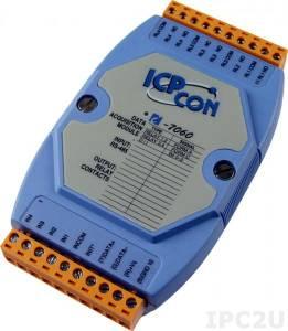 I-7060 Модуль ввода - вывода, 4 канала релейного вывода / 4 канала дискретного ввода, c изоляцией до 3750 В