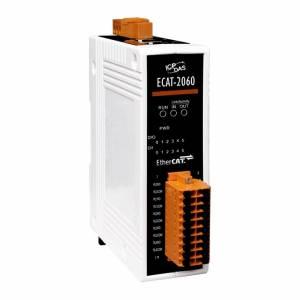 ECAT-2060 Модуль ввода-вывода, 6 каналов дискретного ввода с изоляцией, 6 каналов релейного вывода, EtherCAT Slave