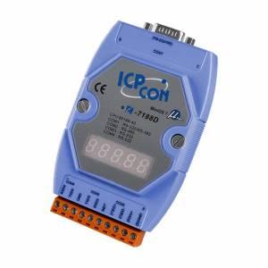 I-7188D/DOS/512 PC-совместимый промышленный контроллер 40МГц, 512кб Flash, 256кб SRAM, 2xRS232, 1xRS485, 1xRS232/485, 7-сегментный индикатор, ROM DOS, кабель CA-0910x1