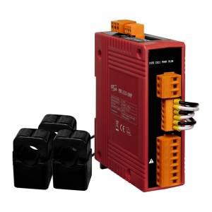 PM-3133-100P 3-фазный компактный измеритель напряжения и тока, кабель 10мм (0-60A), до 500 В, 50/60Гц, Modbus RTU, PoE