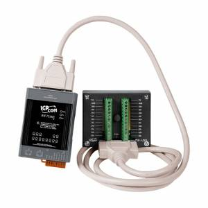 ET-7218Z/S2 Модуль ввода-вывода, 10 каналов ввода сигнала с термопар / 5 каналов дискретного вывода, 2xEthernet, DB-1822 плата, кабель 1.8м