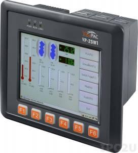 VP-25W1-EN Промышленный панельный контроллер ViewPAC, 5.7' TFT LCD с сенсорным экраном, Intel PXA 270 520МГц, 128 Мб SDRAM, 96 Мб Flash, Ethernet, Win CE 5.0