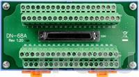 DN-68A Выносная плата с разъемом 68-pin SCSI II Female, монтаж на DIN-рейку, до 15В