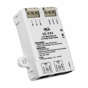 LC-131 Модуль управления освещением, 3 канала дискретного ввода типа сухой контакт, 1 канал релейного вывода, DCON, Modbus RTU