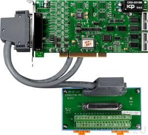 PIO-DA4U/S Адаптер Universal PCI 4 каналов ЦАП, 16DI, 16DO, разъем CA-4002x1, плата клемммников DN-37