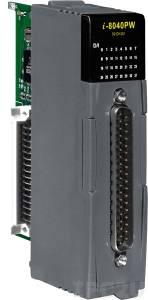 I-8040PW Высокопрофильный модуль ввода, 32 канала дискретного ввода, контакт с внешним питанием, с низкочастотным фильтром, с изоляцией до 3750В, параллельная шина