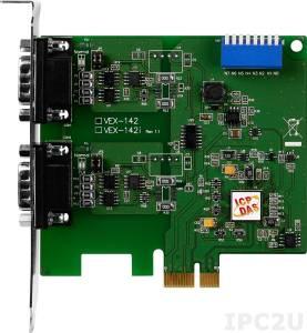 VEX-142 PCI Express адаптер 2xRS-422/485 115.2кбод