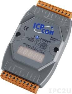 M-7080BD Модуль ввода - вывода, 2 канала счетчика/частотомера / 2 канала дискретного вывода, c сохранением данных и индикацией, Modbus RTU