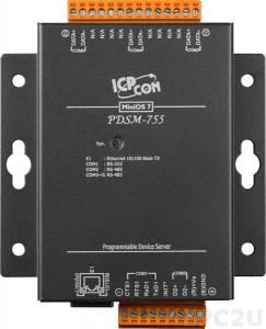 PDSM-755 Программируемый Преобразователь последовательных интерфейсов с 1 портом RS-232 и 4 портами RS-485, металлический корпус