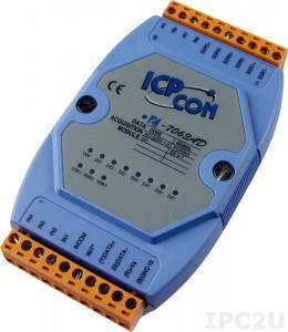 I-7063AD Модуль ввода - вывода, 3 канала вывода с твердотельного реле / 8 каналов дискретного ввода, c изоляцией до 3750 В и индикацией