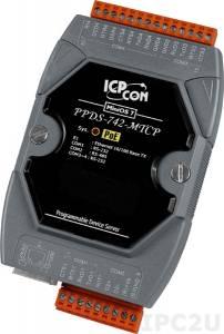 PPDS-742-MTCP Программируемый Преобразователь последовательных интерфейсов, шлюз Modbus TCP в Modbus RTU/ASCII, 3xRS-232, 1xRS-485, POE