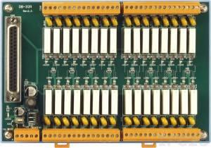 DB-32R 32-канальная плата релейного вывода(250Vac/30Vdc@5A) с кабелем CA-3710D Male-Male D-sub 1м, RoHS
