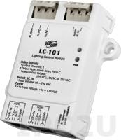 LC-101 Модуль управления освещением, 1 канал дискретного ввода, 1 канал релейного вывода, DCON, Modbus RTU