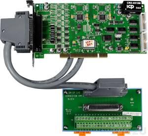 PIO-DA8U/S Адаптер Universal PCI 8 каналов ЦАП, 16DI, 16DO, разъем CA-4002x1, плата клеммников DN-37