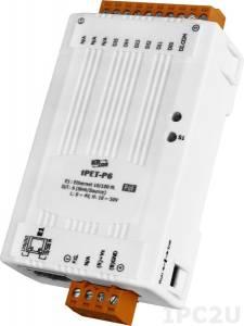 tPET-P6 Модуль Ethernet, 6 каналов дискретного ввода, PoE