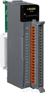 I-8048W Высокопрофильный модуль ввода, 8 каналов дискретного ввода, универсальный контакт, с поддержкой прерываний, с изоляцией до 1500В, параллельная шина