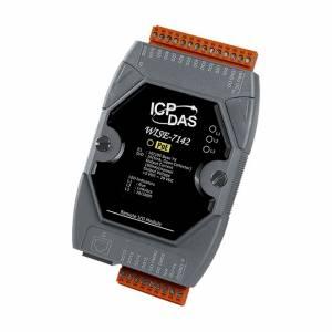 WISE-7142 Web-программируемый контроллер, 16-bit CPU, 512 кб SRAM, 512 Кб Flash, 16 канала дискретного вывода, PoE, Modbus TCP