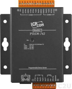 PDSM-742 Программируемый Преобразователь последовательных интерфейсов с 3 портами RS-232 и 1 портом RS-485, кабель CA-0910, металлический корпус