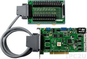 PCI-1802LU/S Многофункциональный адаптер PCI, 32SE/16D каналов АЦП, FIFO, 2 канала ЦАП, 16DI, 16DO, таймер, разъем CA-4002